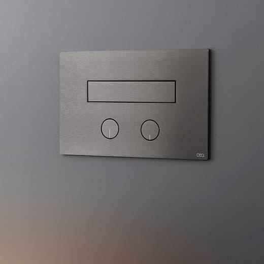 Polleri Cinque - Ceadesign placca di sciacquo con idroscopino acciaio